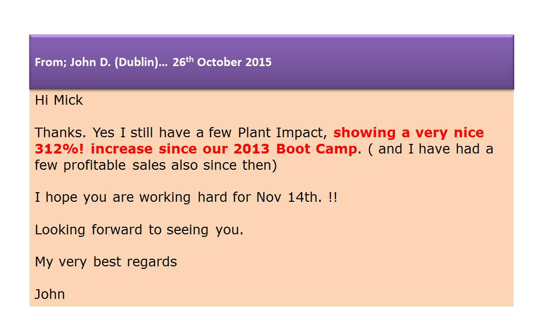 John D. (Ireland) - Plant Impact